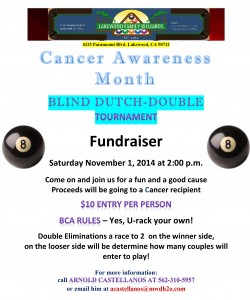 Microsoft Word - Cancer Awareness Month Tourney 11-1-2014.docx